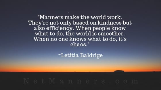 Quote about Manners