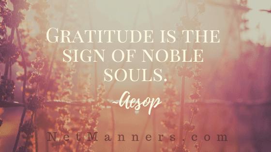 Email Etiquette and Gratitude