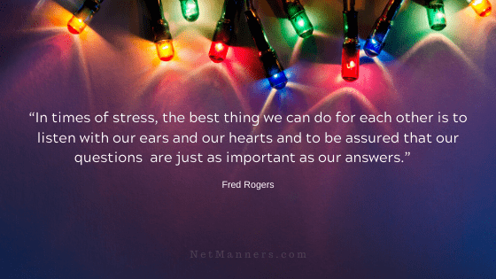 How to handle stress during the holidays.