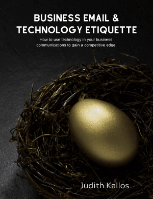 Business Email and Technology Etiquette eBook